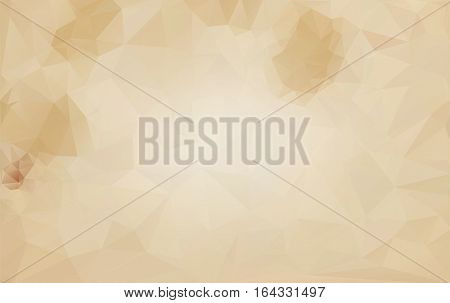 Abstract background vector polygonal structure old crumpled paper.
