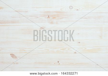 Product photo of white, painted, wooden floor. Visible texture background. Studio image taken from above, top view.