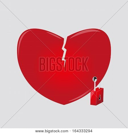 resentful and closed heart quality illustrator design