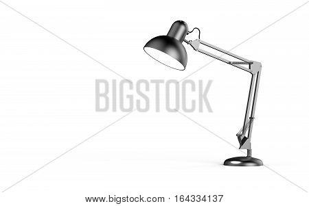 Desk lamp isolated on white background 3D rendering