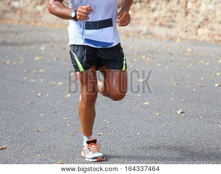 Marathoner Sweated During The Race In The City
