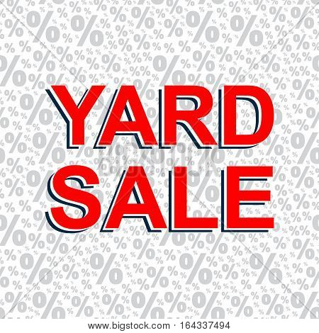 Red Sale Poster With Yard Sale Text. Advertising Banner