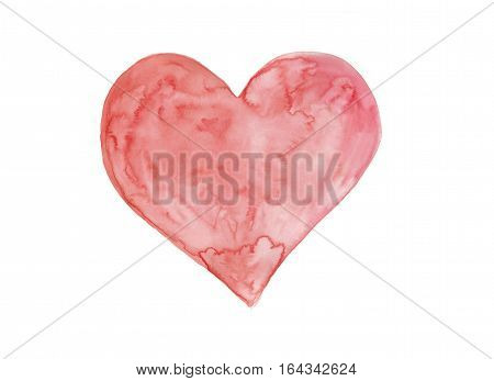 Watercolor heart art symbolise love or valentine