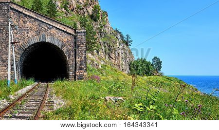 Circum-Baikal Railway. Arch gallery tunnel number 18-bis