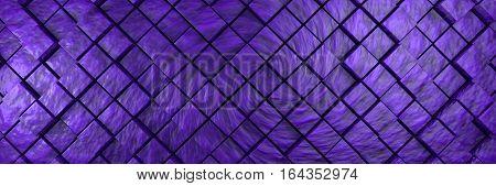 violet bumpy cubes background banner 3d illustration