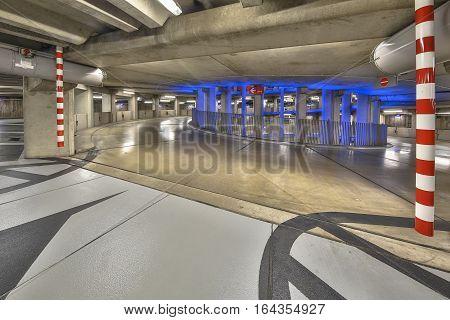 Empty Ramp In Parking Garage Mall