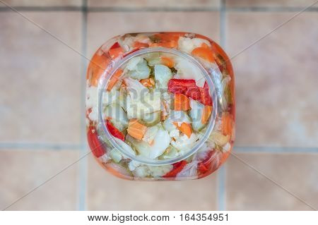 Mixed Vegetable Winter Pickles Salad