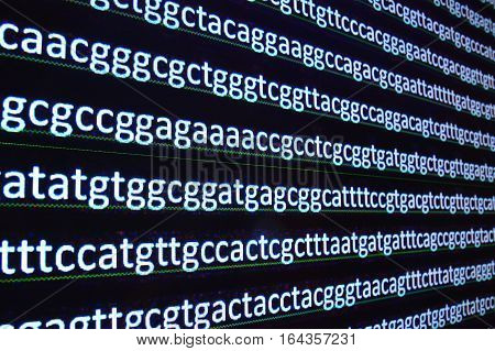 Modern technology: DNA sequencing. The letter symbols sequence of nucleotide bases in nucleic acids.