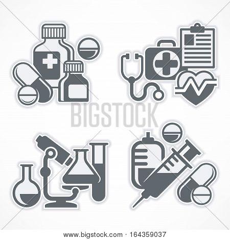 Set Of Medicines Symbols