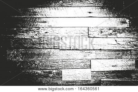Distressed overlay wooden texture grunge vector background.