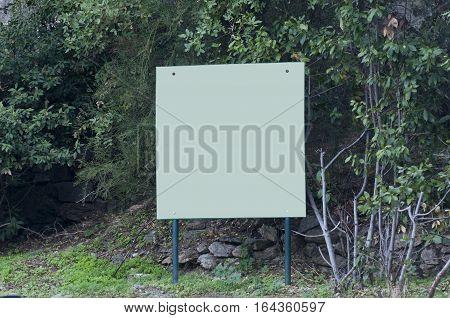 big board in mountain imitos, athens, greece