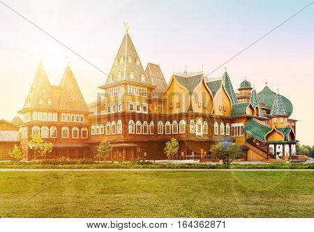 The wooden palace of Tsar Aleksey Mikhailovich in Kolomenskoye Moscow Russia