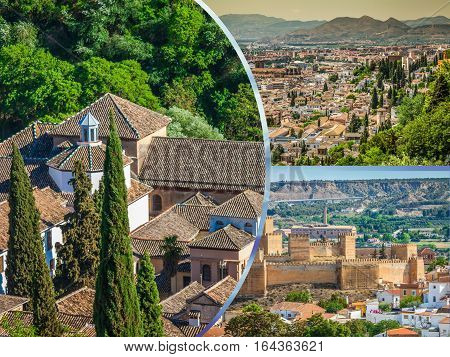 Collage of Guadix, villages in the province of Granada Andalucia.