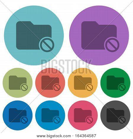 Disabled folder darker flat icons on color round background