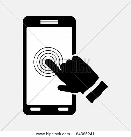 icon touch screen control technology sign for smartphone mtobylnaya technologists fully editable vector image