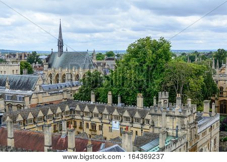 Oxford, United Kingdom - August 21, City Panorama On August 21, 2016 In Oxford, United Kingdom. Oxfo