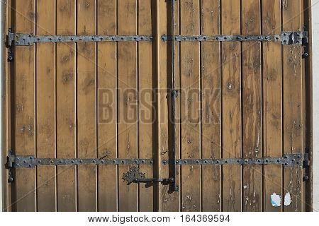 Antique Red Wooden Door.