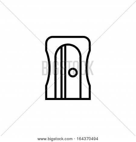 pencil sharpener isolated on white background. Vector illustration