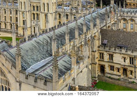 Detail of All Souls College Oxford University Oxford UK. Architectural details with All Souls College and Oxford University.