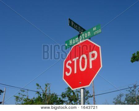 Stop Street Sign