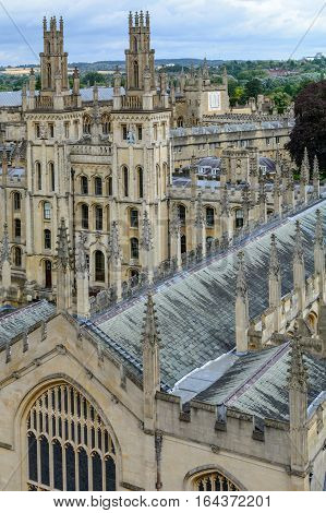 All Souls College Oxford University Oxford UK. Overview with All Souls College and Oxford University.