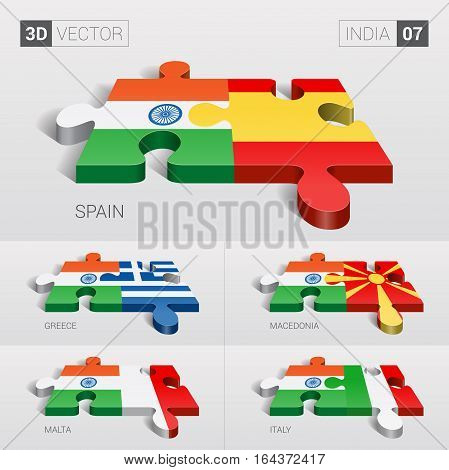 India puzzle part joint with Austria, Belgium, UK, Germany and Ireland.