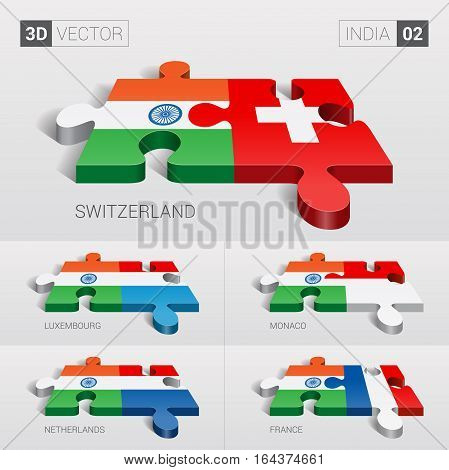 India puzzle part joint with Switzerland, Luxembourg, Monaco, Netherlands, France.