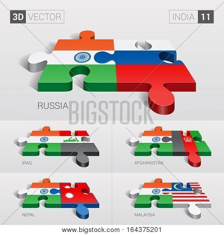 India puzzle part joint with Russia, Iraq, Afghanistan, Nepal, Malaysia.