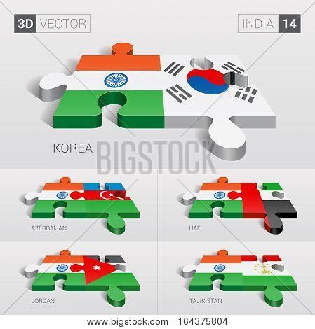 India puzzle part joint with Korea, Azerbaijan, UAE, Jordan, Tajikistan.
