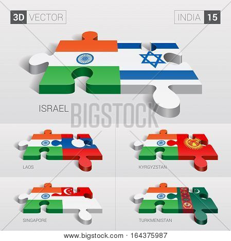 India puzzle part joint with Israel, Laos, Kyrgyzstan, Singapore, Turkmenistan.