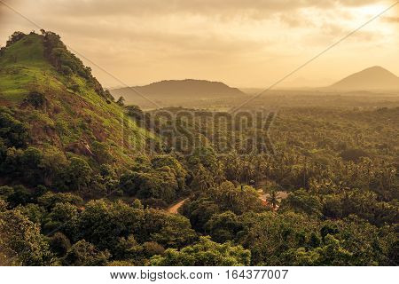 Sri Lanka: Dambulla National Park at sunset