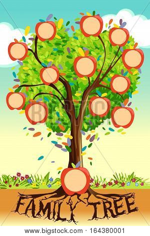 A vector illustration of Family Tree Template