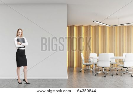 Blond Woman In A Boardroom