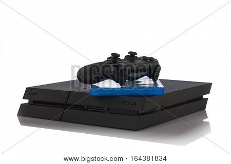 Varna, Bulgaria - 18 November, 2016: Sony Playstation 4 Game Console Is A Home Video Game Console De