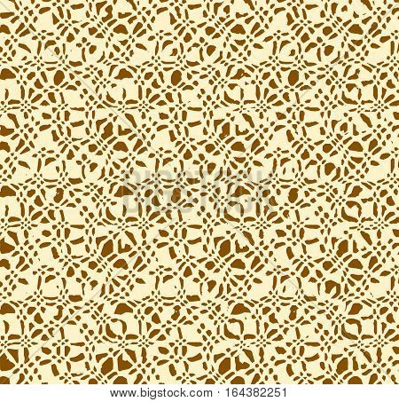 Beige brown abstract pattern. Motley vector seamless pattern