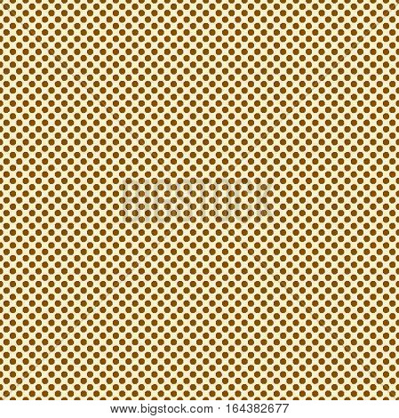 Brown beige halftone pattern. Pattern with small polka dots. Vector seamless
