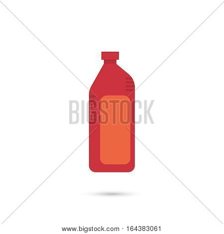 Canister under the petrol, gasoline and engine oil. Modern thin line icon. outline symbol. Vector. Can for water, milk, detergent, shampoo and other liquids. flat style