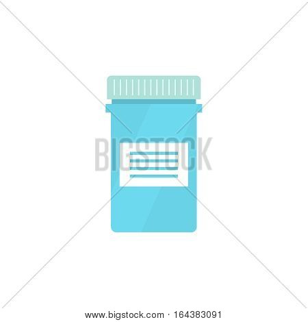 Pill bottle isolated icon on white background. Pill bottle for capsules. Medical container. vector illustration.