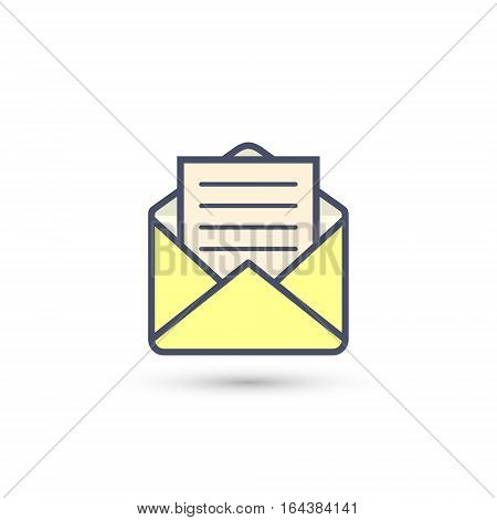Envelope icon letter mail news chat email message vector illustration.
