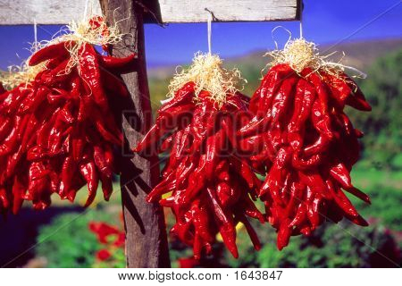 Chili Peppers Hanging For Sale
