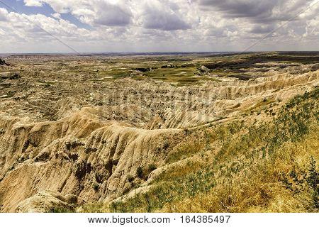 Badlands Plateau in Badlands National Park South Dakota