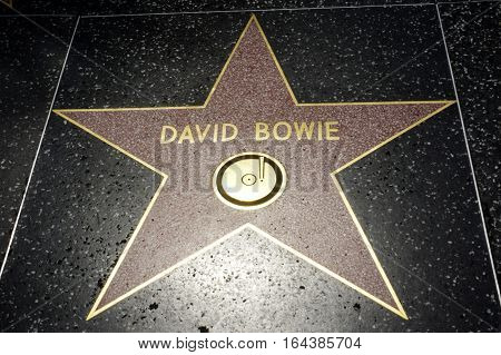 LOS ANGELES CALIFORNIA USA- JUN 01 2015 - david bowie's star at the Hollywood's Walk of Fame