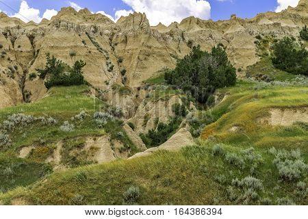 Ravine in Badlands National Park, South Dakota