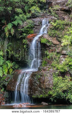 A waterfall in the Blue Mountains NSW, Australia