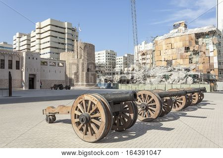 Historic Al Hisn fort in the city of Sharjah. United Arab Emirates Middle East