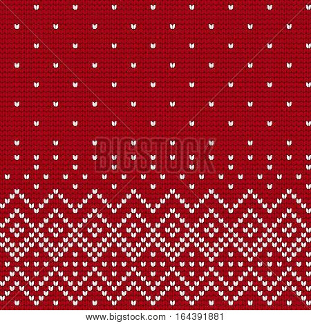 Traditional knitting pattern for Ugly Sweater, vector seamless pattern