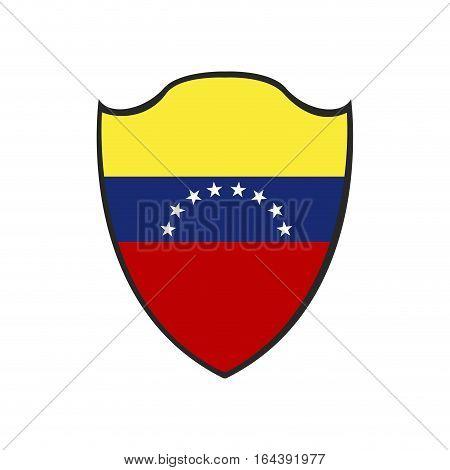 Isolated Venezuelan Badge