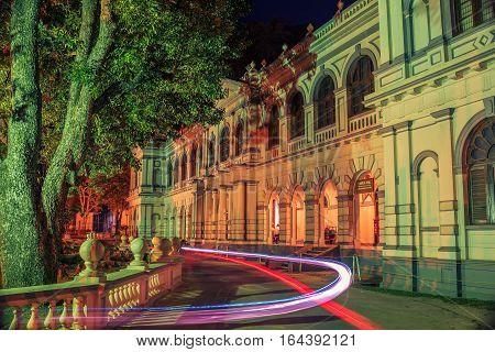 Sri Lanka: beautiful old town of Kandy at night