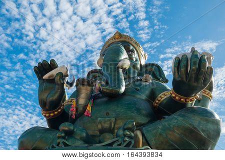 Ganesha statue and Hindu god at Ratchaburi,Thailand