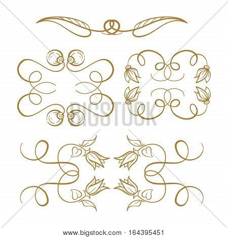 Set of elegant flourishes for your design